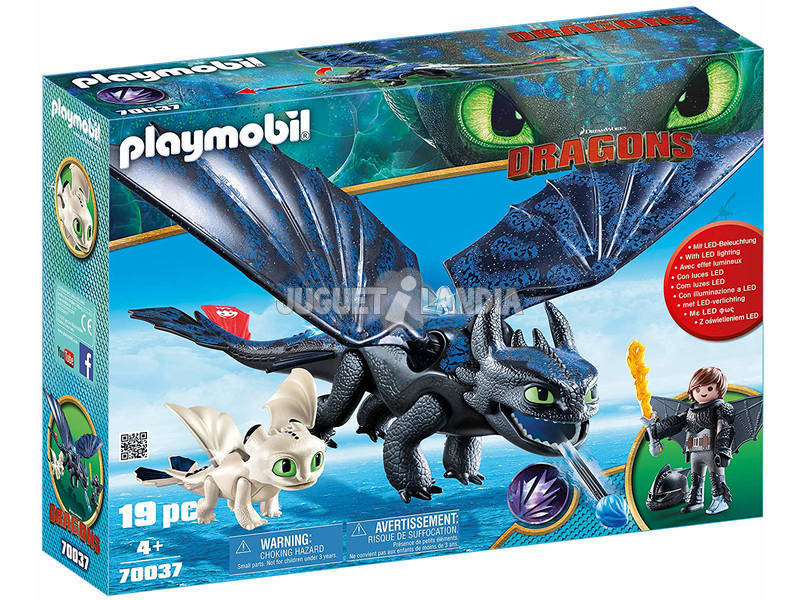 Playmobil Dragons Hiccup e Sdentato con Baby Dragon 70037