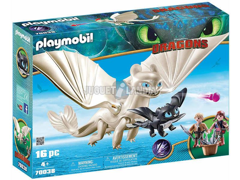 Playmobil Cómo Entrenar a Tu Dragón Furia Diurna y Bebé Dragon con Niños 70038