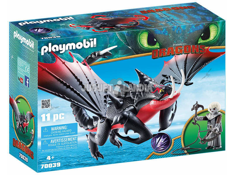 Playmobil Dragons Pinzamortale e Grimmel 70039
