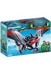 imagen Playmobil Cómo Entrenar a Tu Dragón Aguijón Venenoso y Crimmel 70039