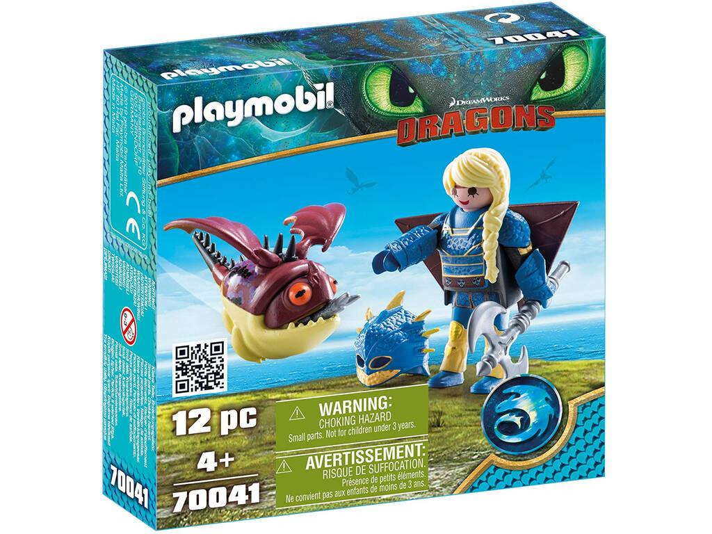 Playmobil Dragons Astrid e Gargarozzone 70041