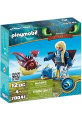 Playmobil Comme formé a votre Dragon Astrid avec Globoglob 70041