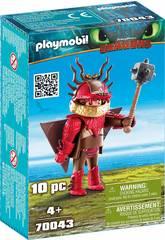 Playmobil Comme Dresser Votre Dragon Rustik en Combinaison de Vol 70043