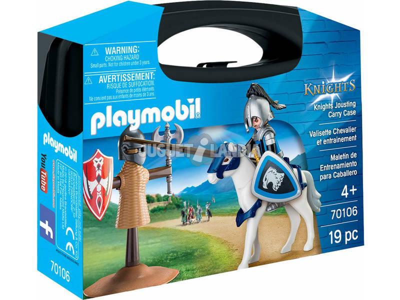 Playmobil Knights Valigetta Cavaliere e Allenamento 70106