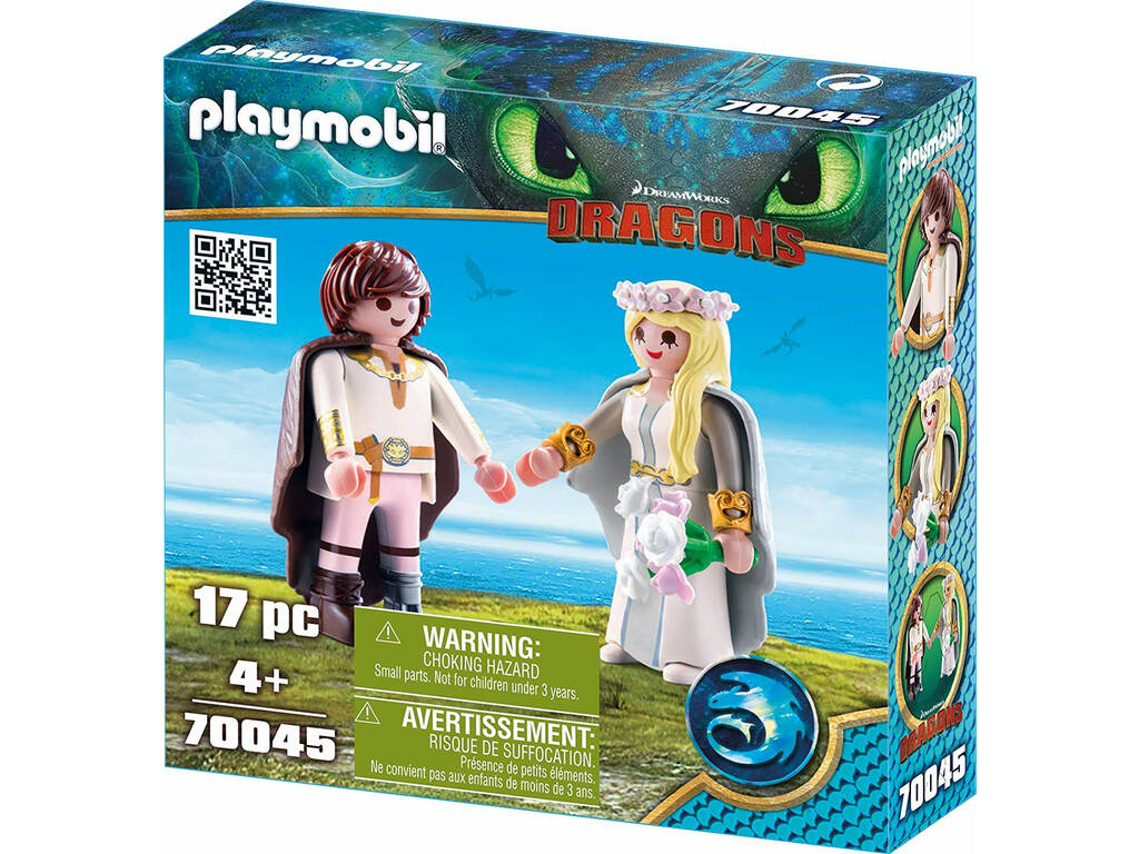 Playmobil Drachenzahmen Leicht Gemacht Astrid Und Hicks Hochzeit 70045 Juguetilandia