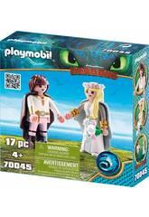 imagen Playmobil Cómo Entrenar a Tu Dragón Boda de Hipo y Astrid 70045