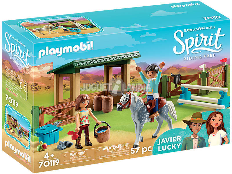 Playmobil Paddock con Lucky y Javier 70119