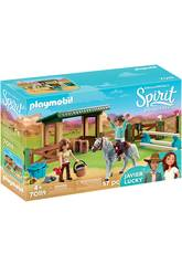 imagen Playmobil Paddock con Lucky y Javier 70119