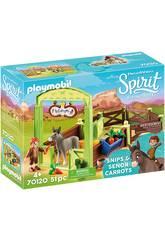 imagen Playmobil Establo Trasqui y Señor Zanahoria 70120