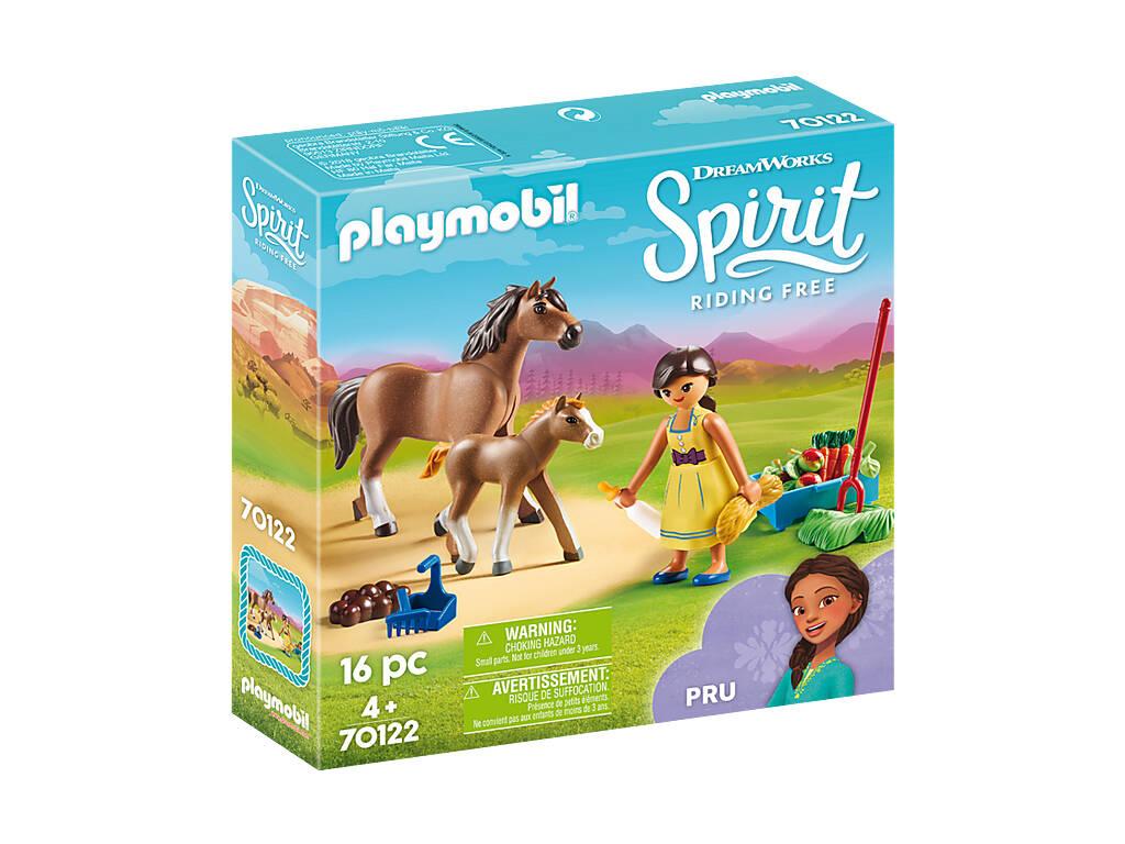 Playmobil Pru com Cavalo e Potro 70122