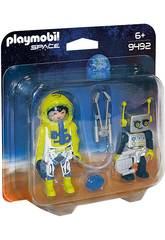 Playmobil Duo Pack Astronauta y Robot 9492