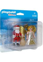 Playmobil Duo pack Papa Noel con Angel 9498