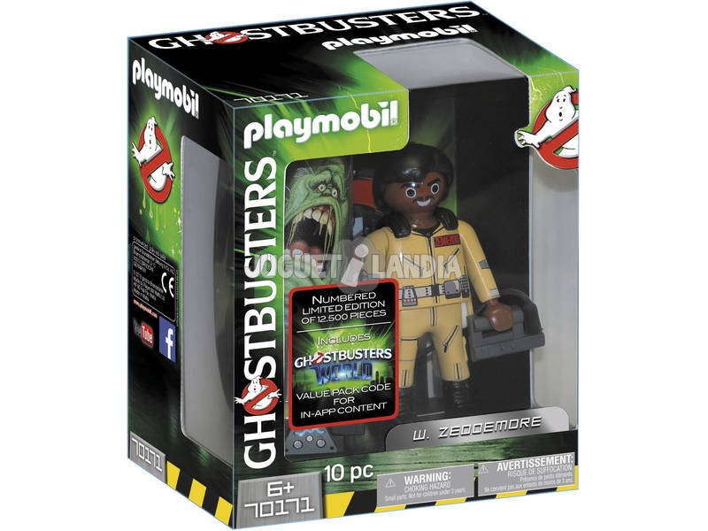 Playmobil Cazafantasmas Figura Coleccionable W. Zeddemore 70171