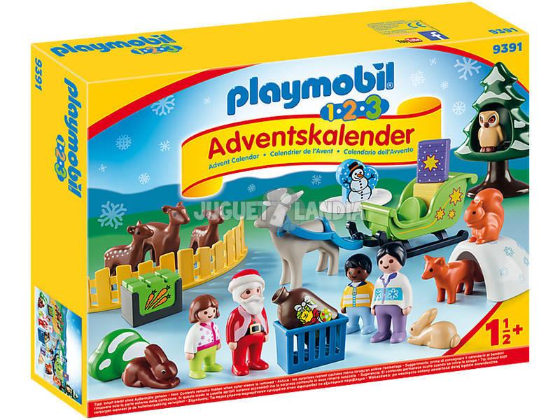 Playmobil 1,2,3 Calendario De Adviento Navidad en el Bosque 9391