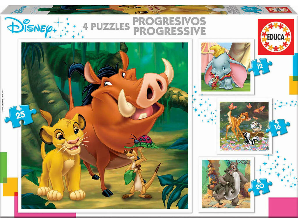 Puzzle Progresivos Disney Animals Educa 18104