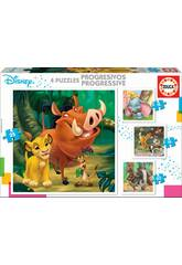 Puzzles Progressifs Disney Animals Educa 18104