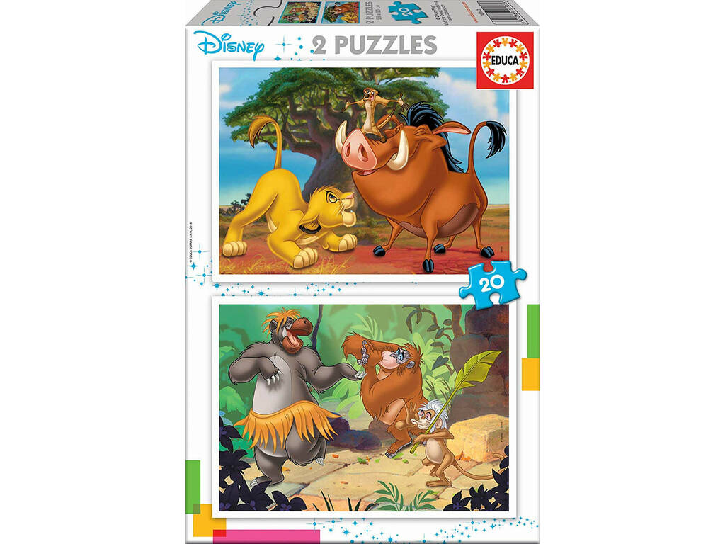 Puzzle 2x20 Disney Animals Educa 18103