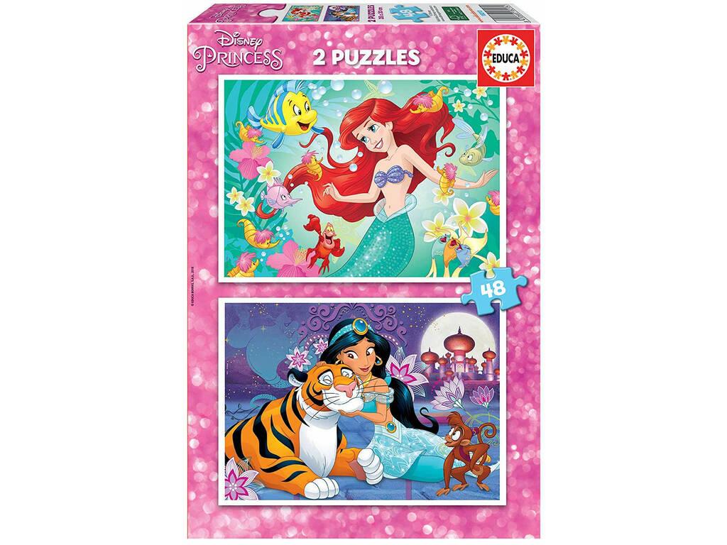 Puzzle 2X48 Ariel y Jasmín Educa 18213