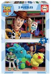 Puzzle 2x48 Toy Story 4 Educa 18106