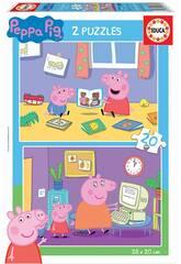 Puzzle 2X20 Peppa Pig Educa 18087