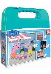 Valise Puzzles Progressifs Peppa Pig 6-9-12-16 Educa 18112