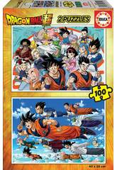 Puzzle 2 x100 Dragon Ball Educa 18214