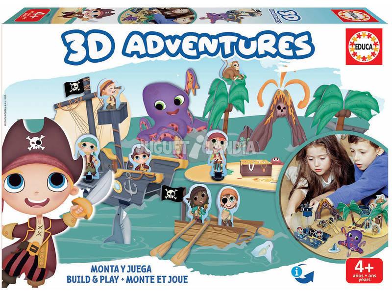 3D Aventures Pirati Educa 18227