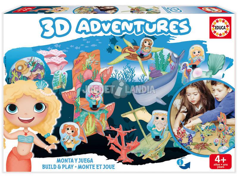 3D Aventures Sirènes Montez et Jouez Educa 18230