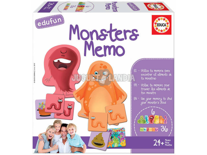 Monsters Memo Educa 18126