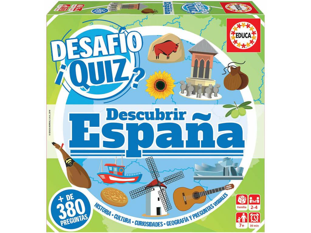 Défi Quiz Découvrez l'Espagne Educa 18217