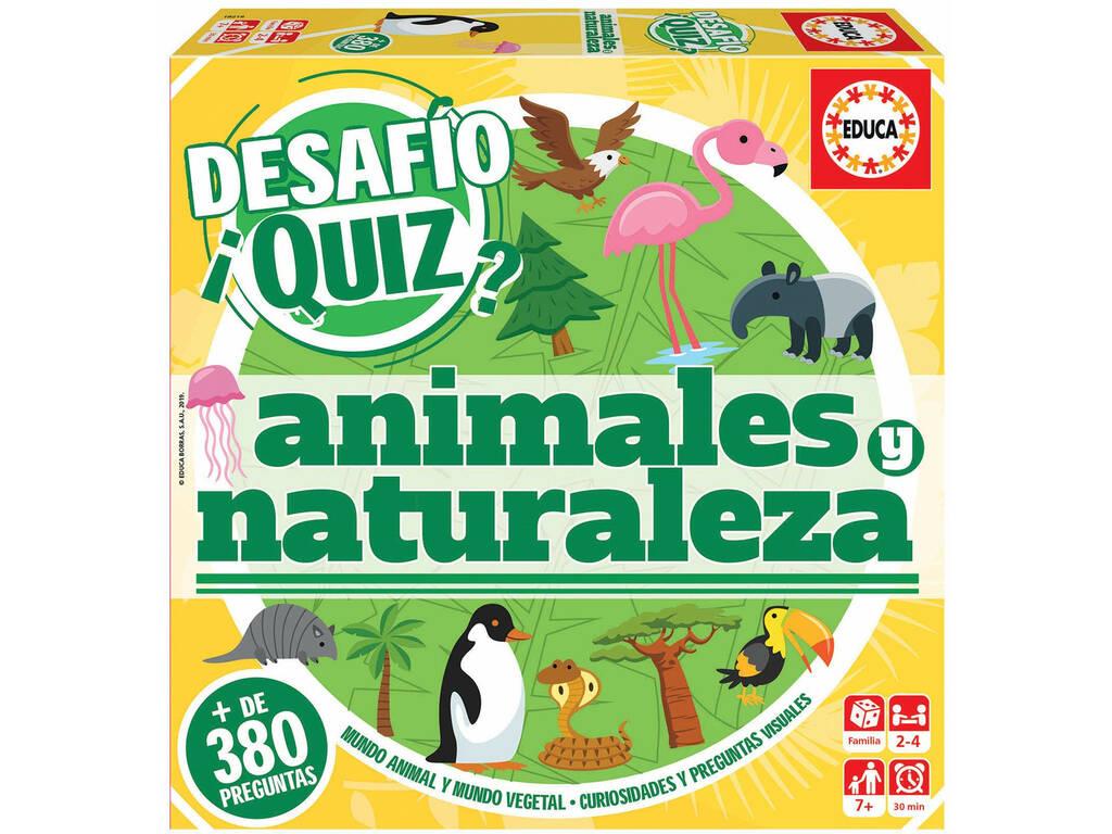 Desafio Quiz Animais e Natureza Educa 18219