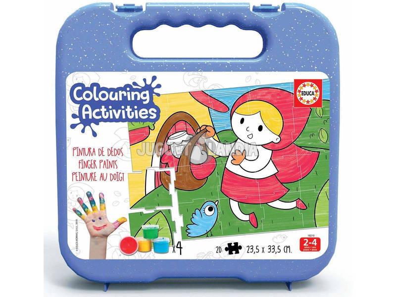Valigetta Colouring Activities Puzzle 20 Cappucetto Rosso Educa 18210