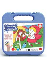 Maletín Colouring Activities Puzzle 20 La Caperucita Roja Educa 18210