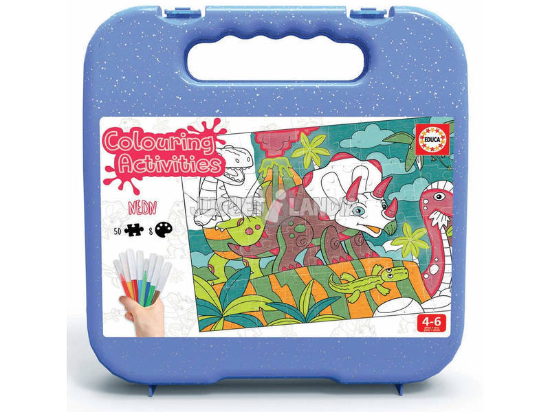 Colouring Activities Puzzle 50 Dinosaurios Educa 18069