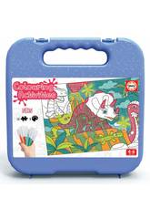 Colouring Activities Puzzle 50 Dinosaurier Educa 18069