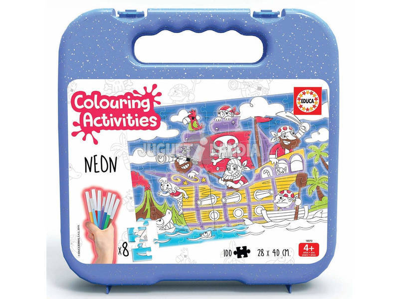 Valigetta Colouring Activities Puzzle 100 Pirati Educa 18070