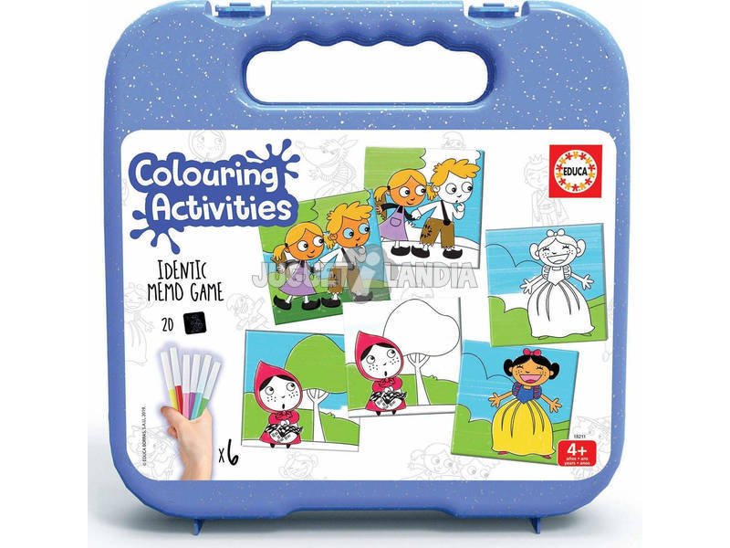 Mala Colouring Activities Identic Memo Game Contos Educa 18211