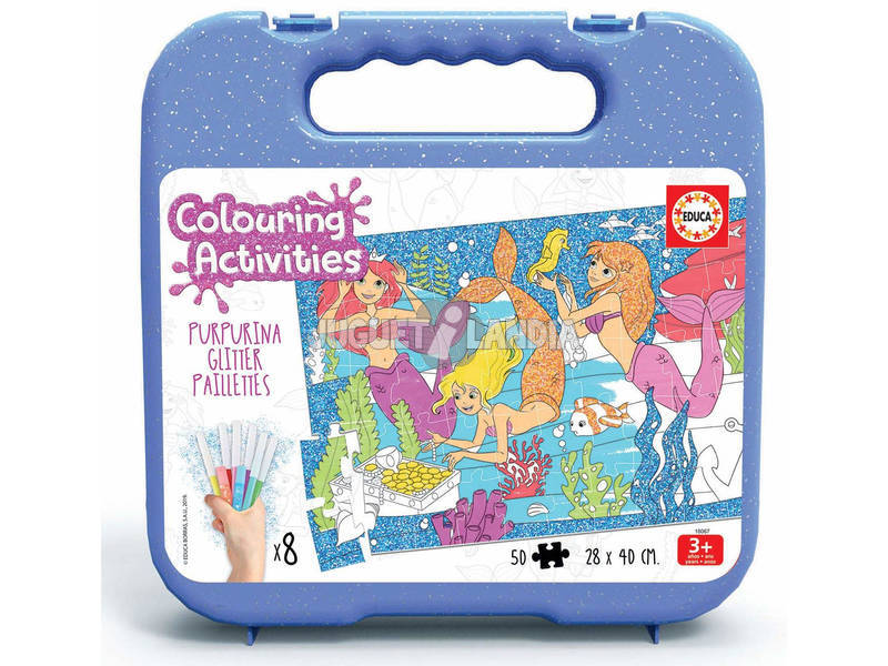 Colouring Activities Puzzle 50 Sirene Educa 18067
