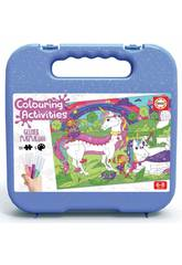 Valigetta Colouring Activities Puzzle 100 Unicornio Educa 18066