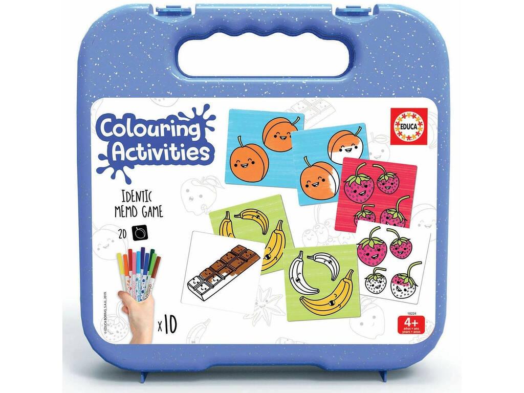 Mala Colouring Activities Identic Identic Memo Game Alimentos Educa 18224