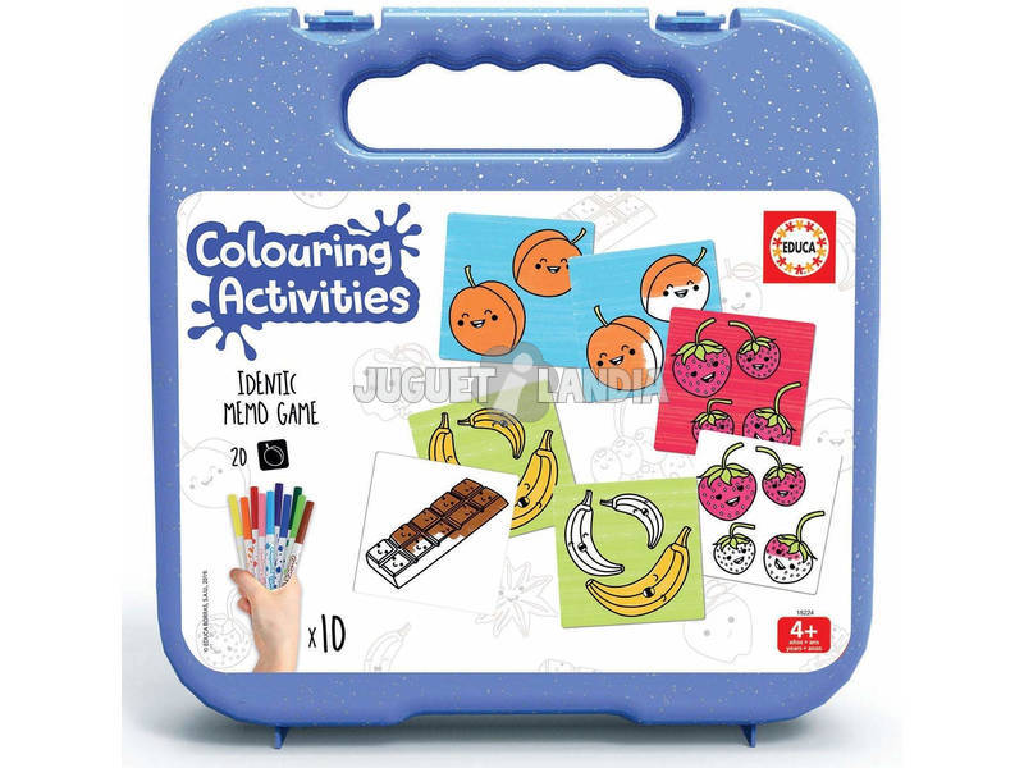 Maletín Colouring Activities Identic Identic Memo Game Alimentos Educa 18224