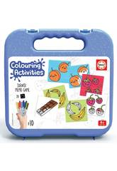 valigetta Colouring Activities Identic Memo Game Alimenti Educa 18224