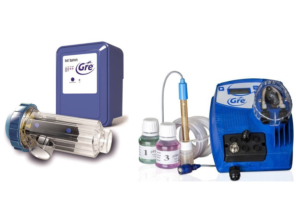 Clorador Salino Electrólisis con Controlador PH para Piscinas hasta 60.000 L Gre SCGPH60