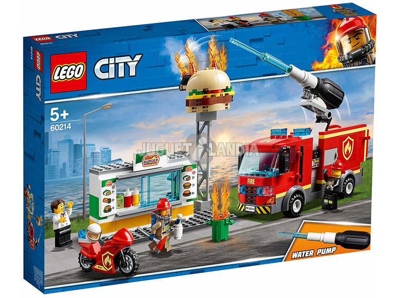 Lego City Fire Resgate de Incêndio do Restaurante de Hambúrguer 60214