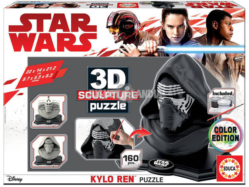 Puzzle Color 3D Escultura Star Wars Kylo Ren Educa 17802