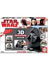 Puzzle Couleur 3D Sculpture Star Wars Kylo Ren Educa 17802