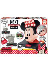 Puzzle Couleur 3D Sculpture Minnie Mouse Educa 17930