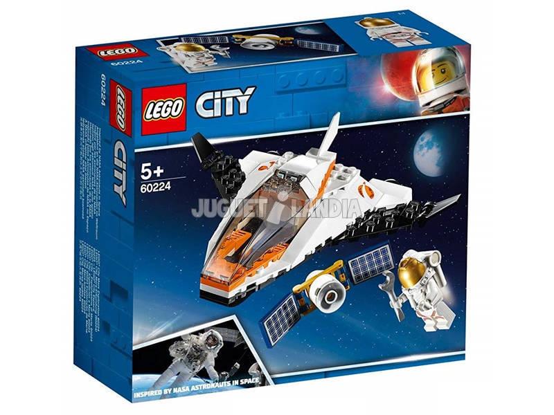 Lego City Space Port Mission Réparer Le Satellite 60224