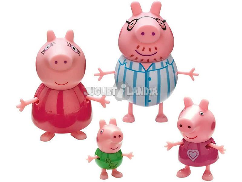 Pack 4 Figuras Família Peppa Pig Bandai 6666