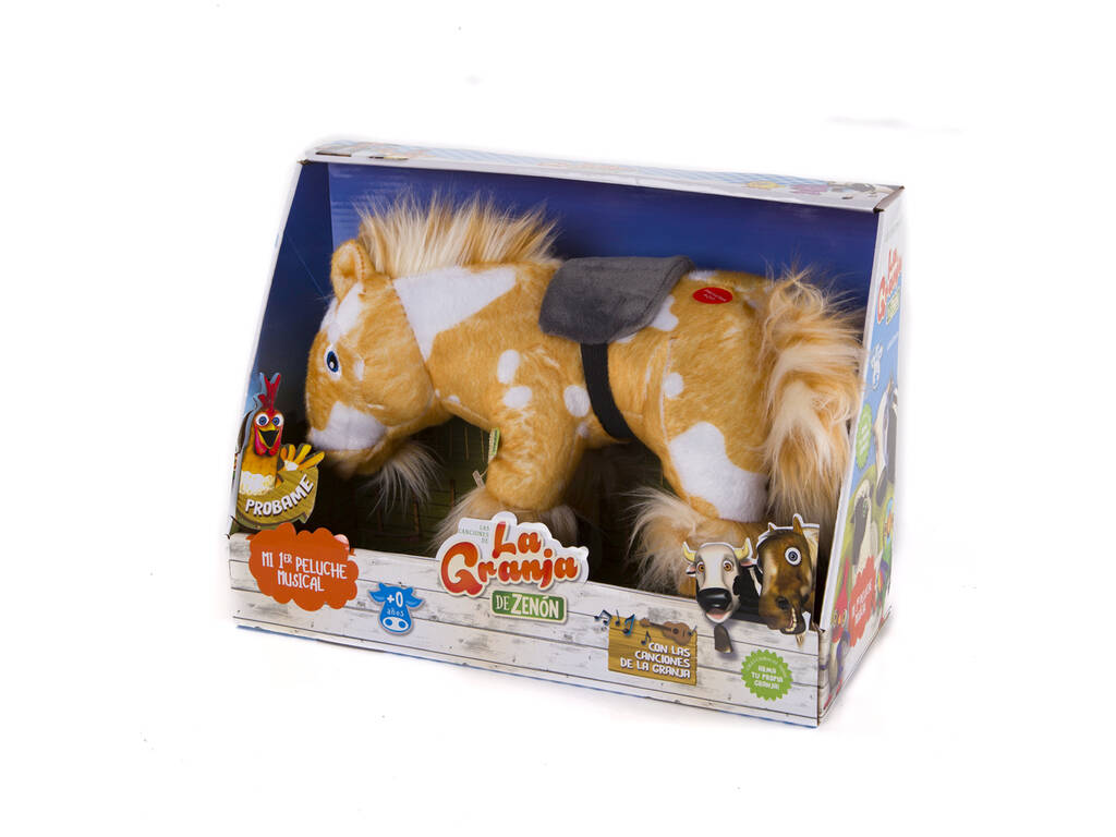 A Fazenda Do Zenón Peluche Musical Percherón Bandai 80005